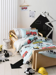 Dusty Quilt Cover Set Hiccups For Kids