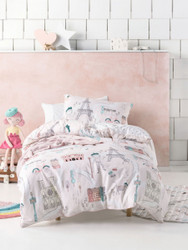 I Dream Of Paris Quilt Cover Set Hiccups For Kids