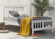 Burbank Bed Frame features an open slated head and footboard and is great value. Single or King Single.