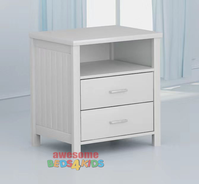 The slick white finish modern bedside table means it can be matched with any of our white bed frames and furniture.