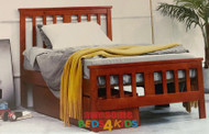 Burbank Bed Frame features an open slated head and footboard and is great value. Made from pine.