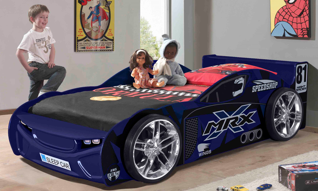 Single MRX No 81 Car Bed Blue is our latest design and far away the one of coolest car bed on the market!