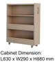 Hideaway storage cabinet which simply slides into the headboard and can be assembled either side.