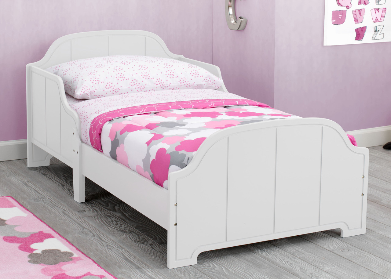 """A bed designed just for them, the MySize Toddler Bed by Delta Children helps make the transition from cot to """"big kid"""" bed easy."""