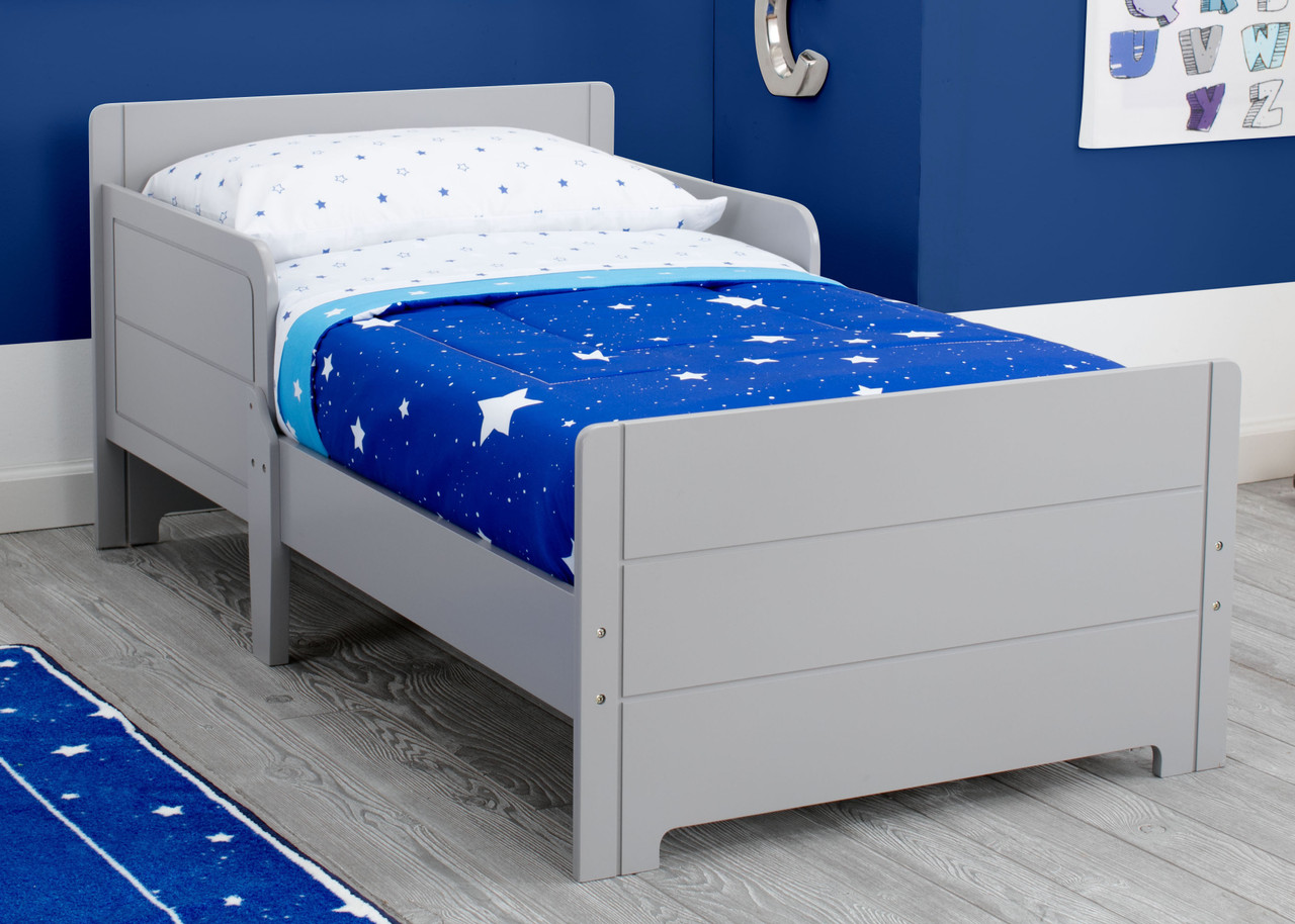 """A bed designed just for them, the MySize Toddler Bed by Delta Children helps make the transition from cot to """"big kid"""" bed easy!"""
