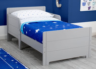 "A bed designed just for them, the MySize Toddler Bed by Delta Children helps make the transition from cot to ""big kid"" bed easy!"