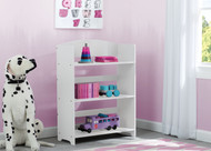 Help your child organize their growing book collection. Constructed of strong and sturdy wood, this durable bookcase will be a lasting piece that encourages reading as your child matures. Coordinates with other items in the MySize Collection