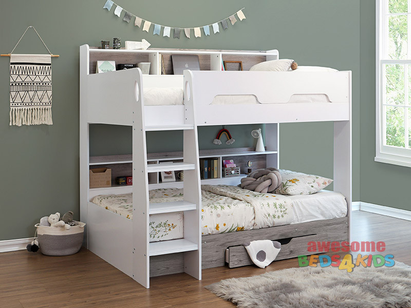 Jaspa Single Bunk with Drawer
