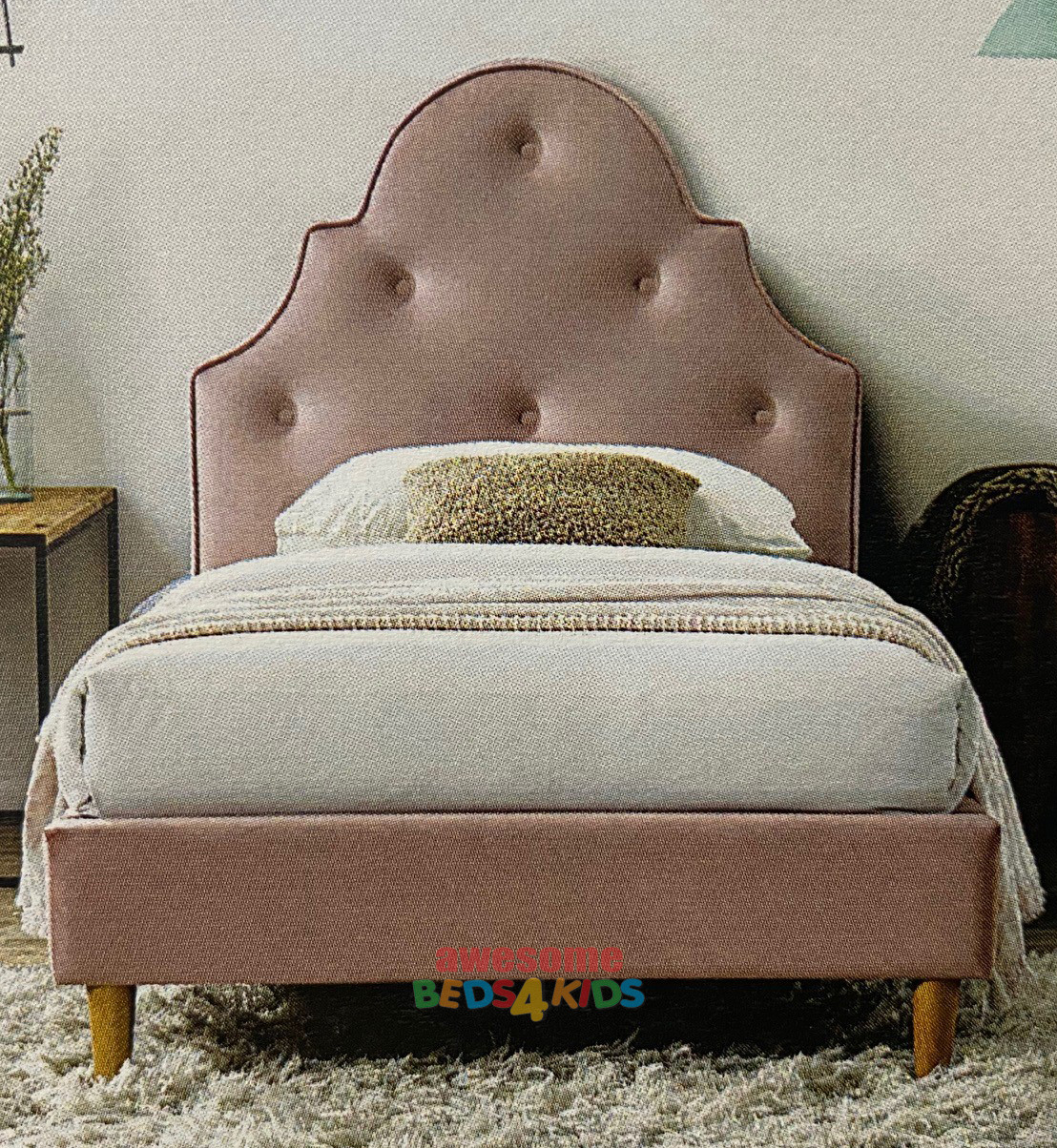 Kylie Upholstered Bed Frame Kylie Dusty Pink Awesome Beds 4 Kids