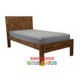 The Single & King Jayden bed is made from solid rubber wood to create a modern and strong bed.  Distressed finish in pecan brown with random gouges.