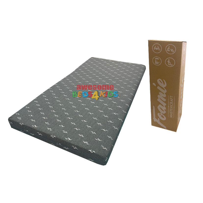 Foamie Boxed Mattress features a medium density foam which is perfect for kids and adults.