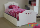 The Hearts Trundle Bed features a solid curved shaped head & foot board, with heart cut outs in both. Very popular model with girls from 3 to 10 years of age.