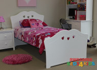 King Single Hearts Bed