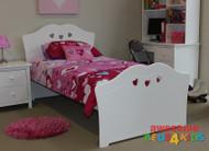 King Single Hearts Bed