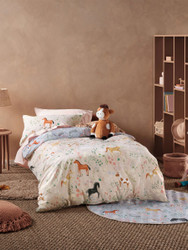 Horsemania Quilt Cover Set Hiccups For Kids