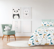 Asaurus Glow In The Dark Quilt Cover By Jelly Bean Kids