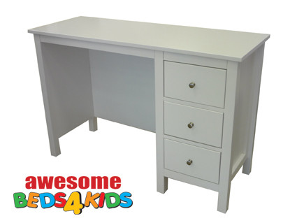 Lilydale desk matches all of our low gloss beds and Furniture. The 4 drawers are on metal runners and there is an optional Square mirror available to convert into dressing table.