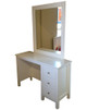 Lilydale dressing table matches all of our low gloss beds and Furniture. The 4 drawers are on metal runners comes complete with a rectangular mirror.