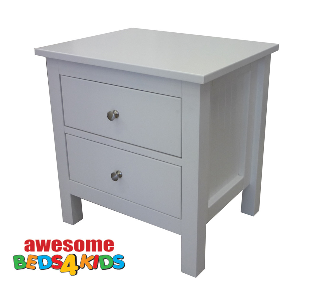 Lilydale two drawer bedside matches all of our low gloss beds and Furniture. The drawers are on metal runners and offers great value.