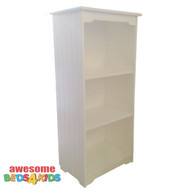 Dakota small bookcase compliments all of our single and king single white low gloss beds and furniture. The Bookcase is the perfect size for all bedrooms, the two shelves are height adjustable.