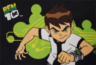 Ben 10 Black rug is a great design which is a soft and comfortable play mat - Nylon cut pile from Egypt.