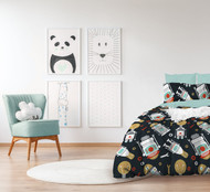 Robo Glow In The Dark Quilt Cover By Jelly Bean Kids