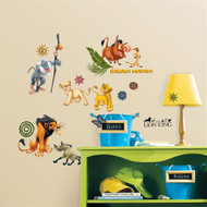 Bring the magic of Disney's The Lion King to your walls. Simba, Nala, Timon, Pumbaa, Scar, and others will come alive on your child's walls, door, furniture, or anywhere else you apply these fun stickers.