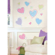 These brightly-coloured pastel hearts are wonderful for girls of all ages who need a little love in their room.