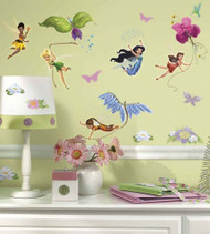 Does your room need a little Disney magic? Look no further! These enchanting wall decals of the Disney Fairies are great for little girls.