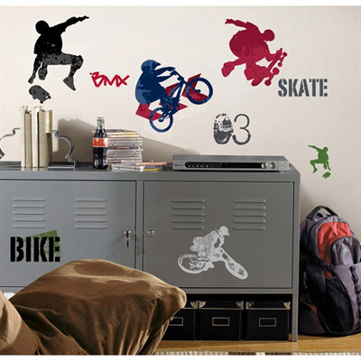 Take your sports to the next level with these high-action wall decals.
