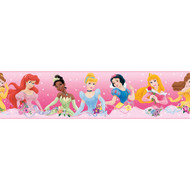 Disney Princess Pink Peel & Stick Borders