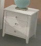 Amber Three Drawer Bedside Table