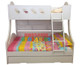 Chloe Bunk Bed Double Single Bunk Bed features a curved head and foot board joining the top and bottom bunks making the style very unique. Includes single pullout storage trundle. Double Bunk Bed.