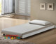 Quincy Universal Trundle is the perfect solution for kids sleepovers, spare bed for guests. The trundle has solid timber slats.  The trundle can accommodate the weight of an adult up to approx 100kg.  Please Note: This trundle suits just about any white bed
