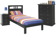 Robinson Chocolate Bed Frame Single or King Single