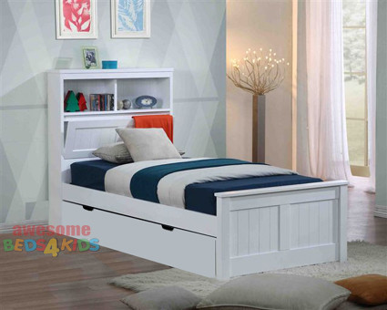Botany Bed Frame with Trundle | Trundle Bed | White Trundle Bed ...