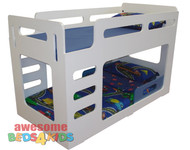 Samson Low Line Bunk Bed is a great option for space saving. Available in White as per picture only.