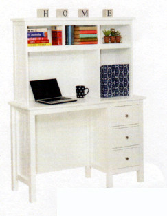 Lilydale desk and hutch matches all of our low gloss beds and Furniture. The 3 drawers are on metal runners. Great size for small rooms.
