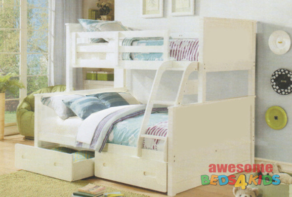 Jordon Bunk Bed Double Bunk Bed White Bunk Bed White Double