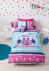 Pretty Owl Double Quilt Cover By Cubby House Kids