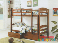 Bravo Single Bunk Bed - White or Antique Oak