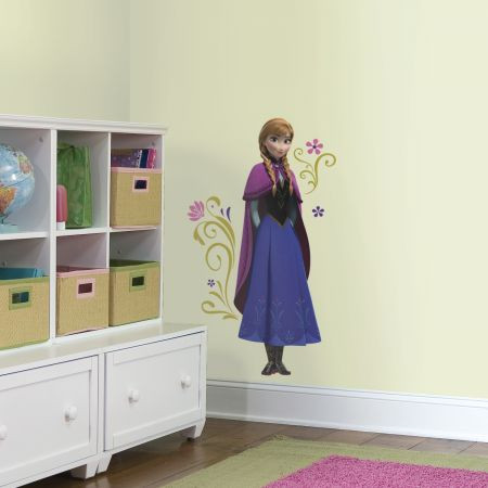Make your little girl smile from ear to ear with these Frozen Anna with Cape Giant Wall Decals! Bring the icy adventure of Frozen to your child's bedroom!