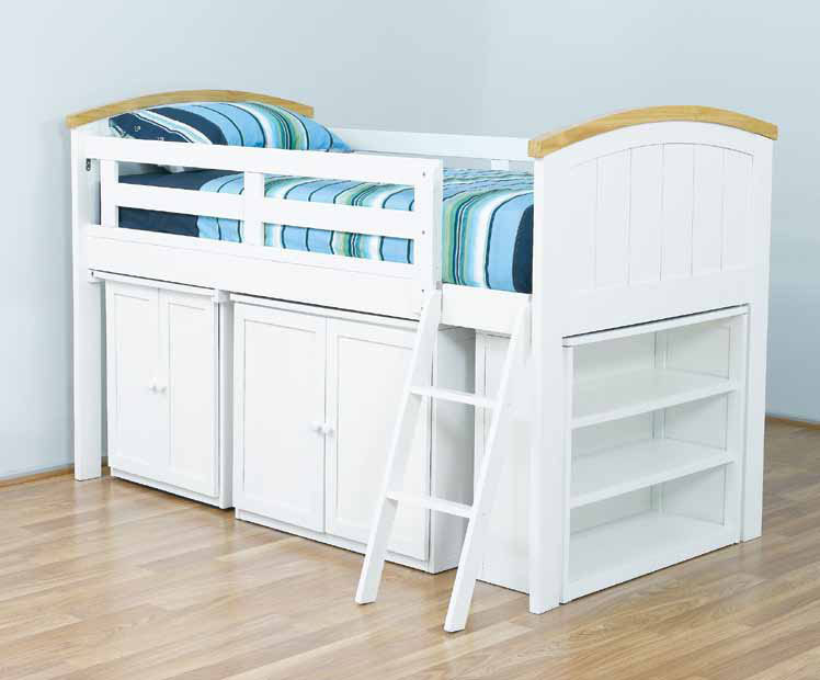 The Burleigh Midi Sleeper features a solid head and foot board. Great modern style with timber trim on bed heads. Burleigh midi sleeper is available in Single and King Single