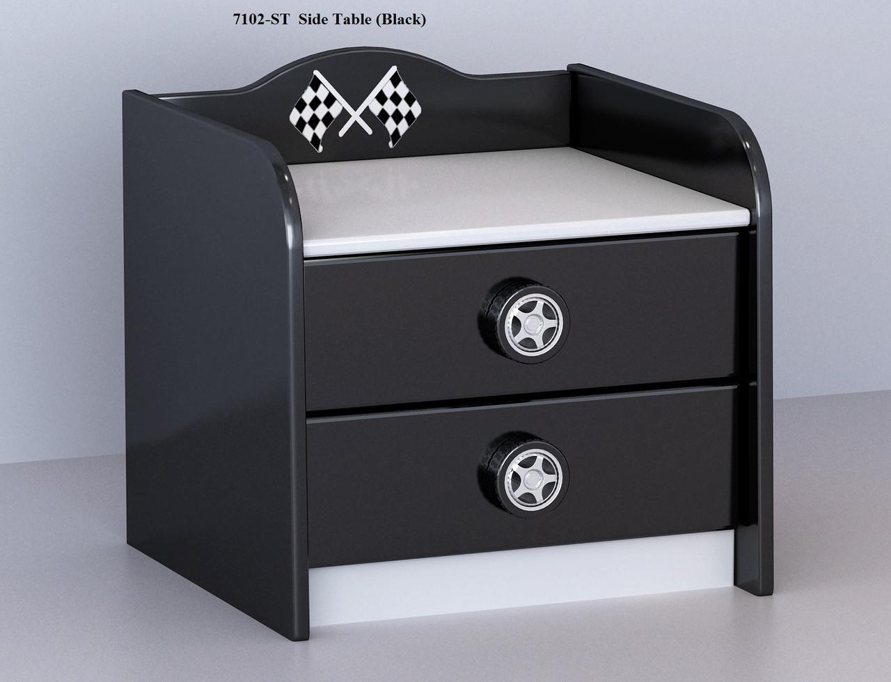 F1 Bedside Table Black