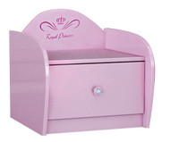 Pink Royal Princess One Drawer Bedside Table