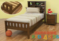 Mayne bed frame features handy storage bed head as well as plenty of space for night lights, books and trinkets. Bed is made from combination of Plywood, Pine and MDF.