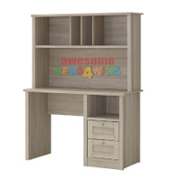 Broadbeach Desk & Hutch. The drawers are on metal extension runners.