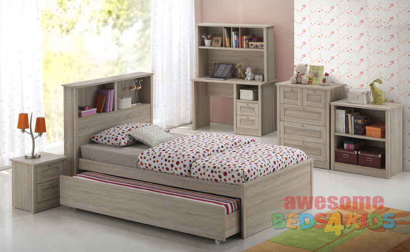 Broadbeach Trundle Bed Is A Very Modern And Practical Bedroom Solution For  Boys Or Girls.