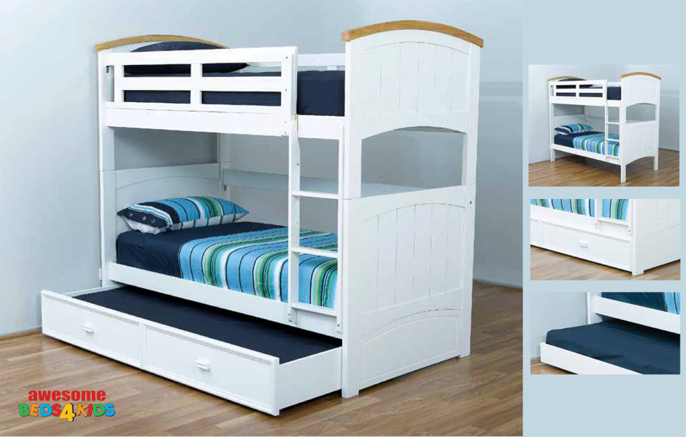 The Burleigh Bunk Bed Features A Solid Head And Foot Board. The Bunk Is Easy