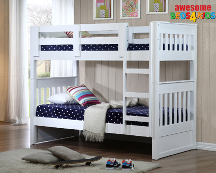 The Single and King Single Bayswater Bunk is one of our federation bunks with an open head and footboards which creates a feeling of space.